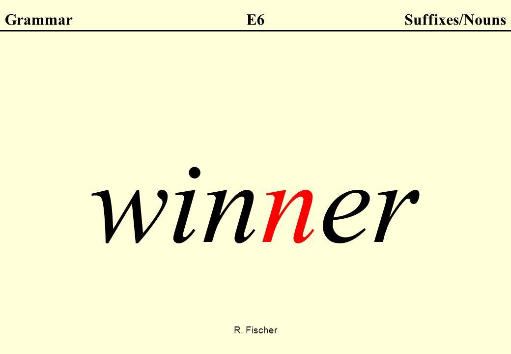 R. Fischer GrammarE6Suffixes/Nouns winner