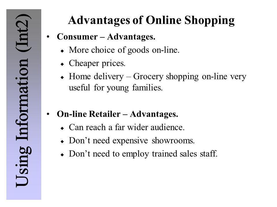 Advantages of Online Shopping Consumer – Advantages.