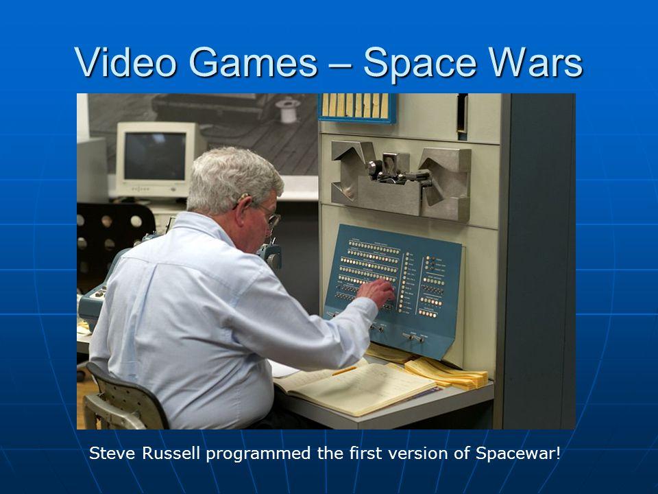 Steve Russell programmed the first version of Spacewar!