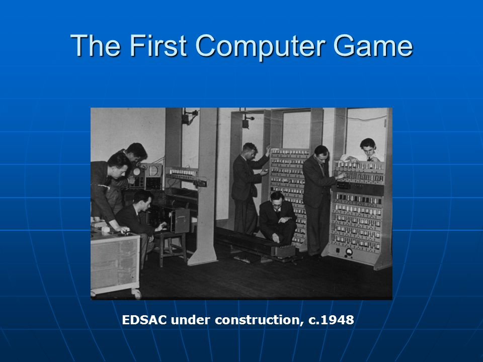 The First Computer Game EDSAC under construction, c.1948