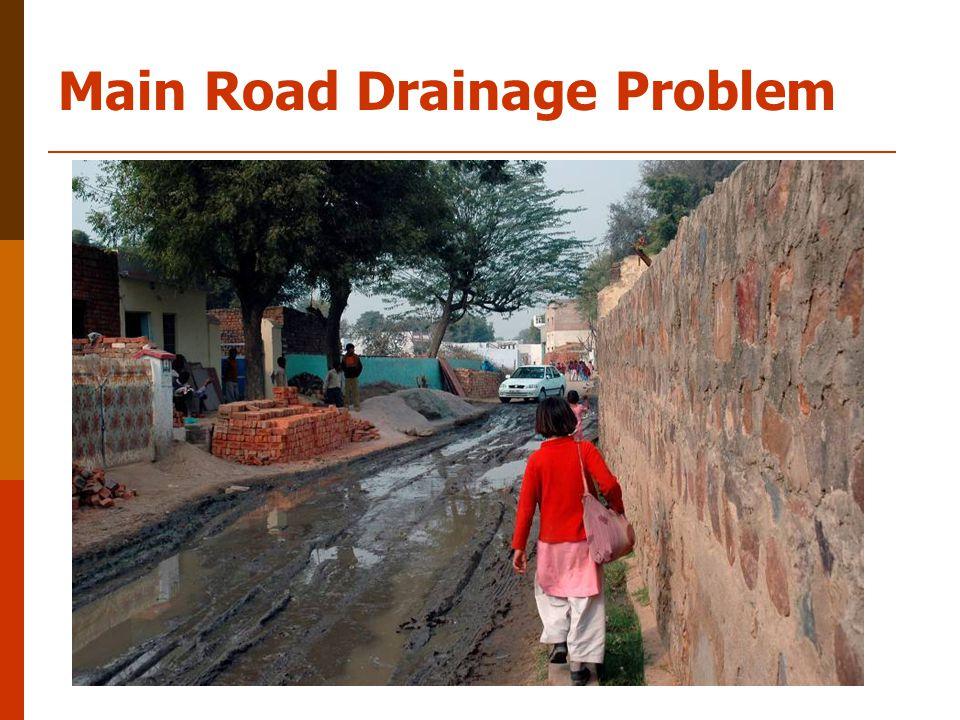 Main Road Drainage Problem
