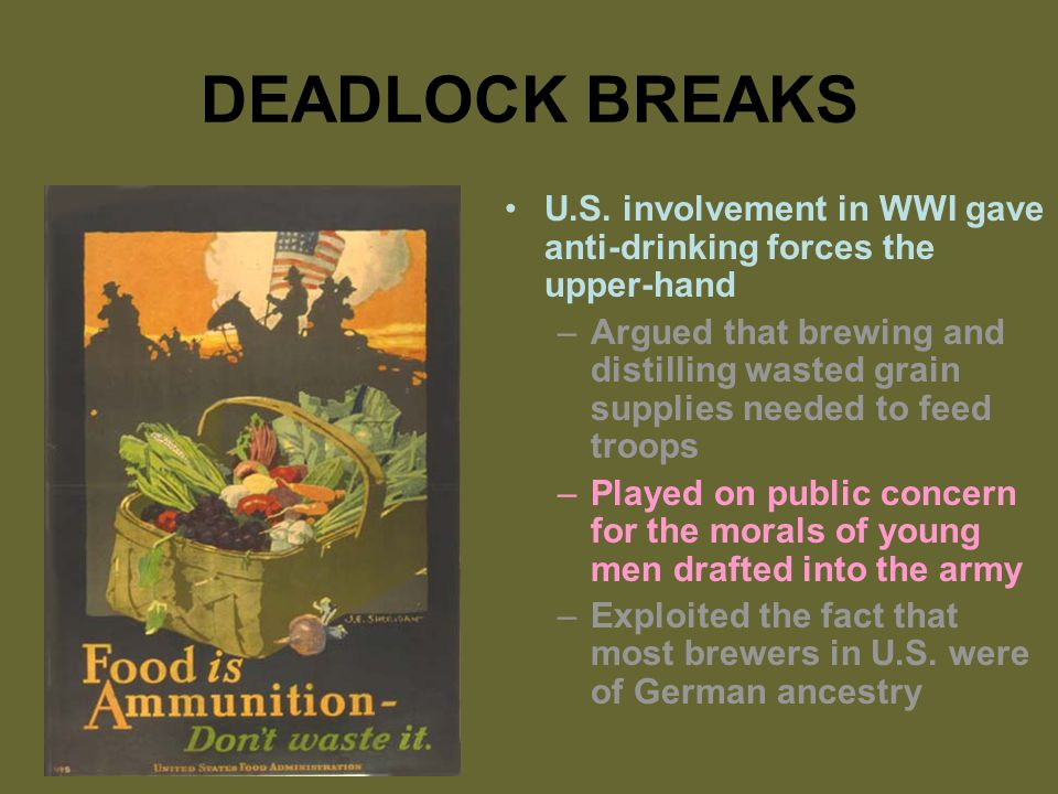DEADLOCK BREAKS U.S.