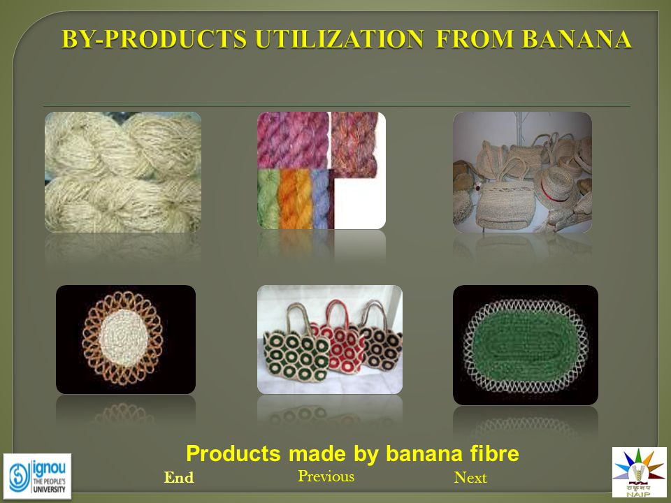 Products made by banana fibre Next Previous End
