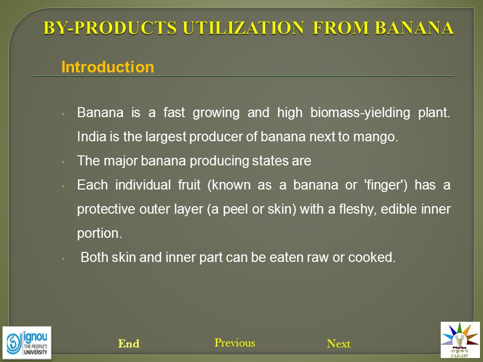 Banana is a fast growing and high biomass-yielding plant. India is the largest producer of banana next to mango. The major banana producing states are