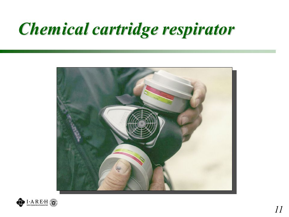 Chemical cartridge respirator 11