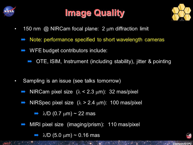 Clampin/GSFC JWST Image Quality: MIrrors