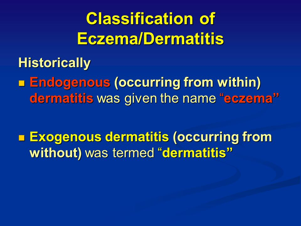 Acute, Subacute or Chronic? Check for erythema, swelling, desquamation, lichenification Check for erythema, swelling, desquamation, lichenification