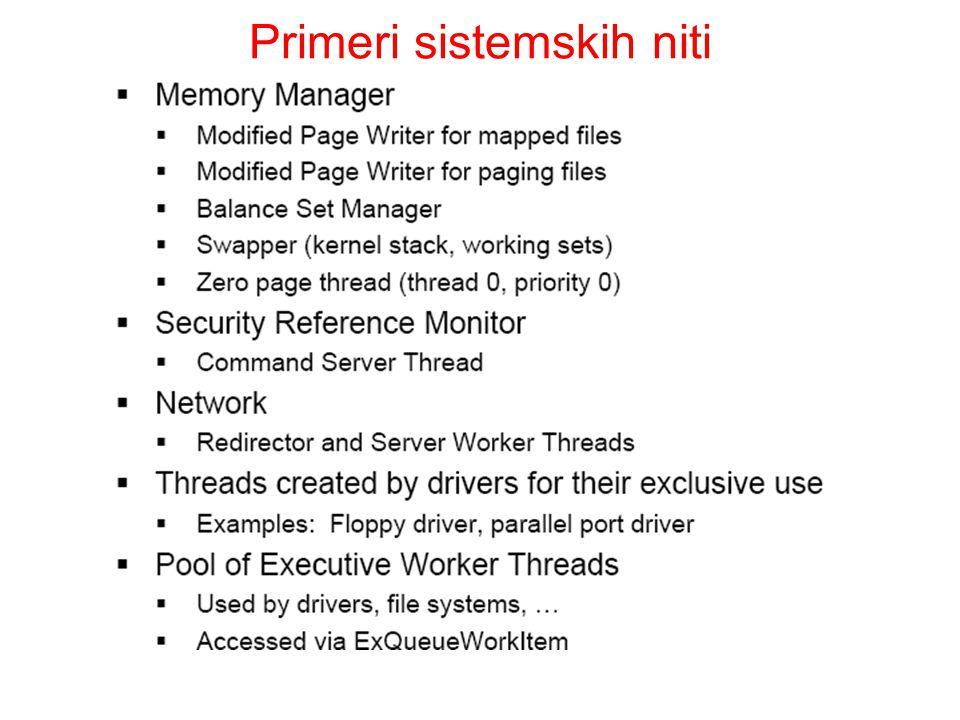 Primeri sistemskih niti