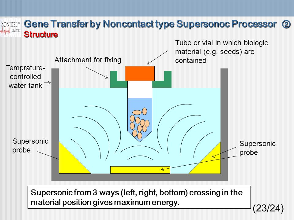 Supersonic probe Tube or vial in which biologic material (e.g.