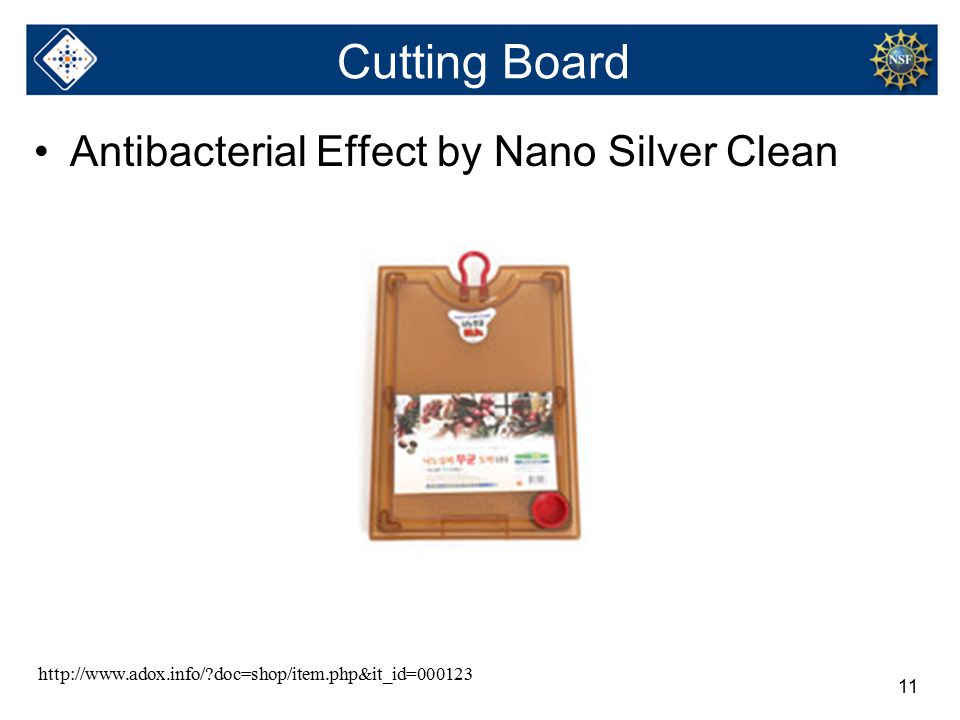 11 Cutting Board Antibacterial Effect by Nano Silver Clean http://www.adox.info/ doc=shop/item.php&it_id=000123