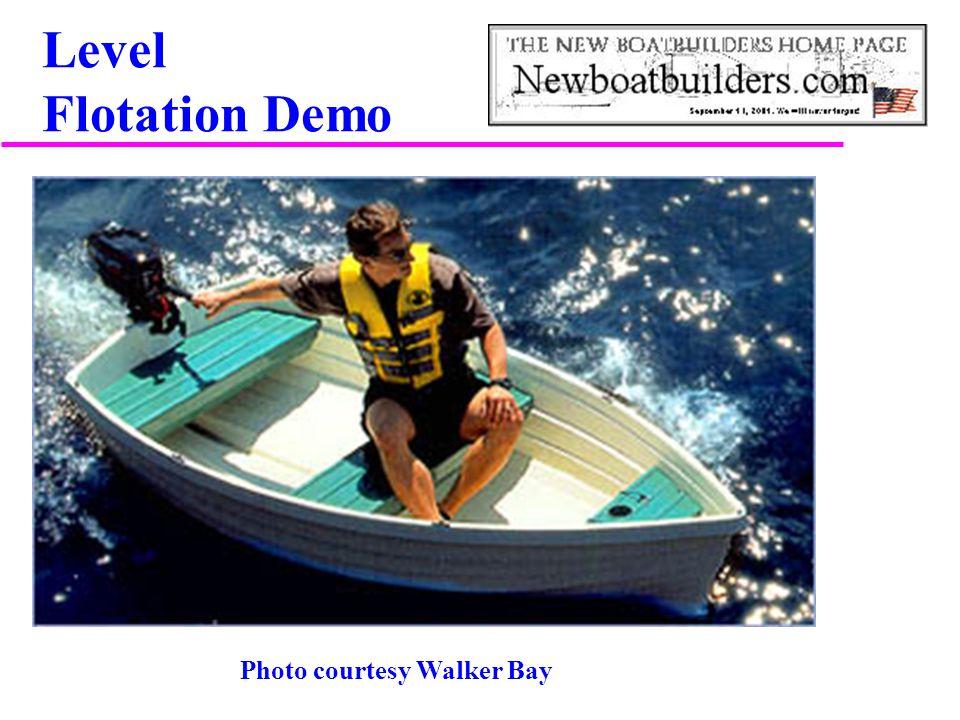 Level Flotation Demo Photo courtesy Walker Bay