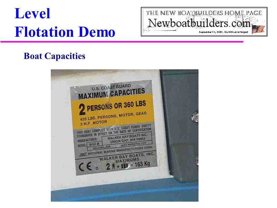 Level Flotation Demo Boat Capacities