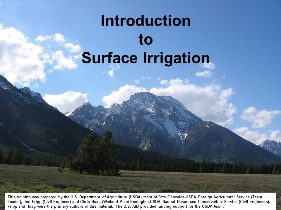 Irrigation may be done in any zone but is most often in the deposition zone were most agriculture occurs