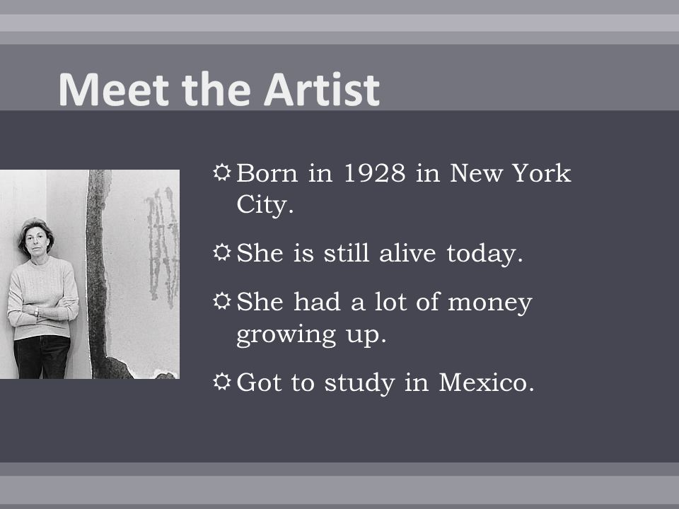  Born in 1928 in New York City.  She is still alive today.