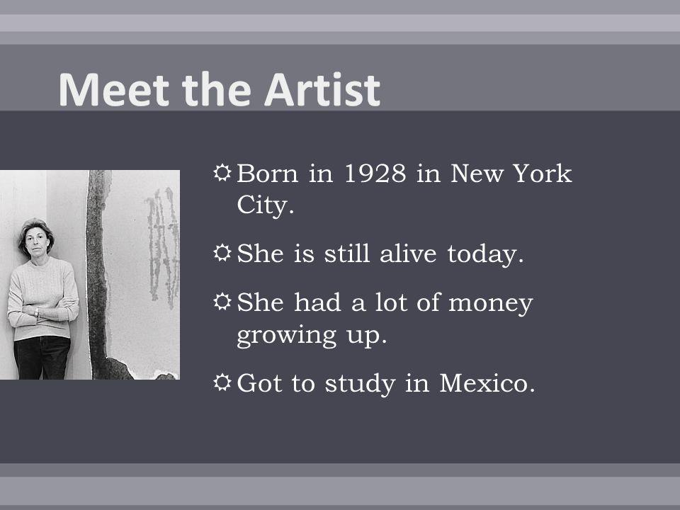  She met famous artist Jackson Pollack  He was her inspiration  Abstract Impressionism  Splatter Art