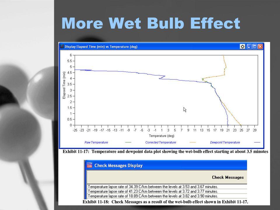 More Wet Bulb Effect
