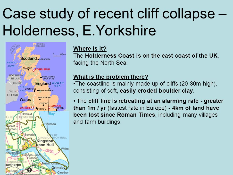 Case study of recent cliff collapse – Holderness, E.Yorkshire Where is it.