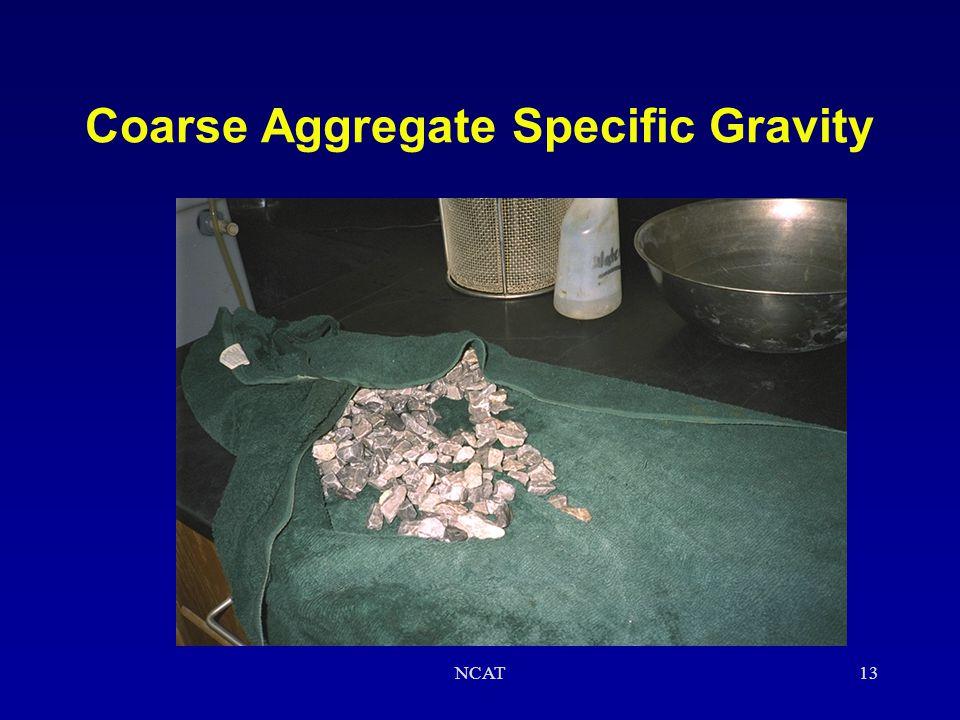 NCAT12 Coarse Aggregate Specific Gravity