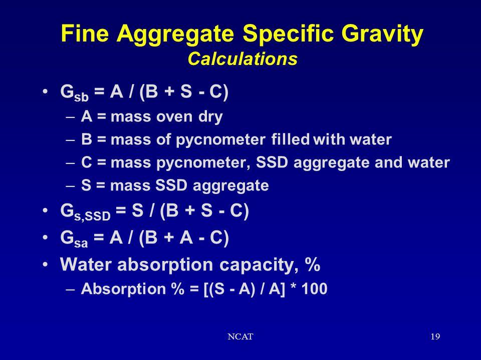 NCAT18 Fine Aggregate Specific Gravity