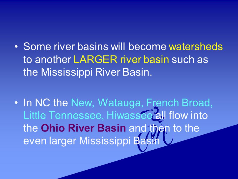 Mississippi River Basin s watersheds are large areas.