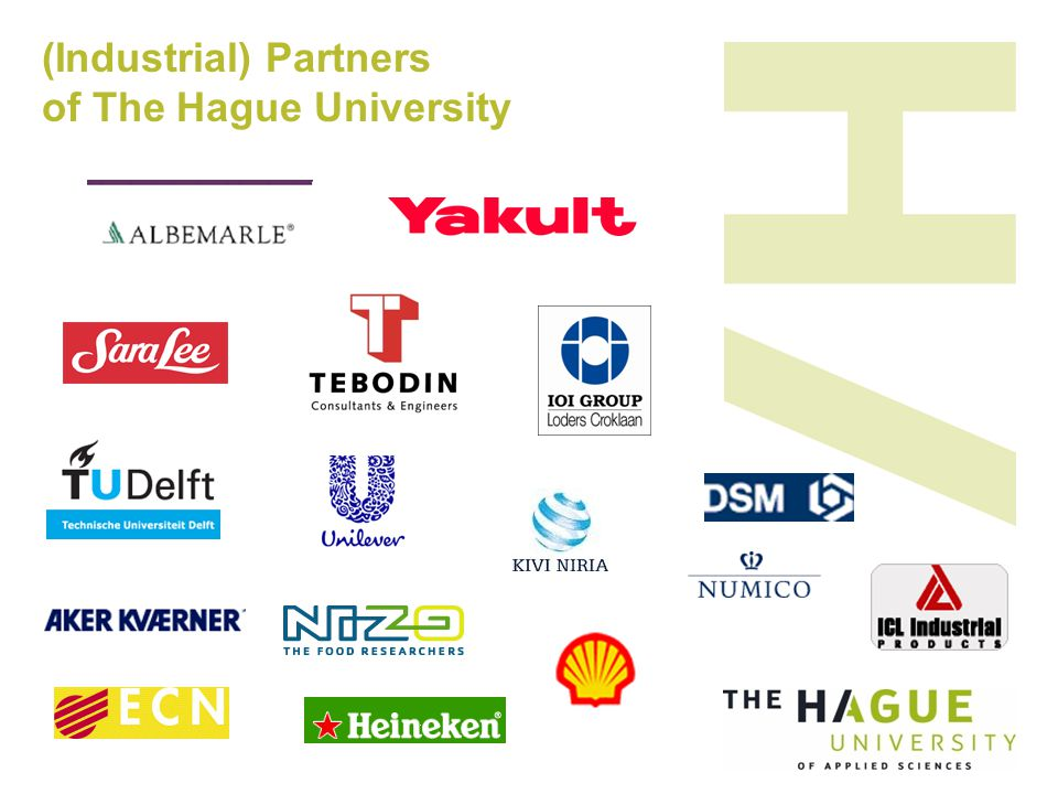 (Industrial) Partners of The Hague University
