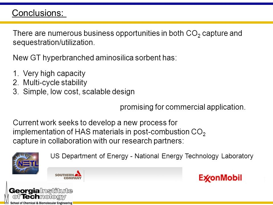 Conclusions: There are numerous business opportunities in both CO 2 capture and sequestration/utilization.