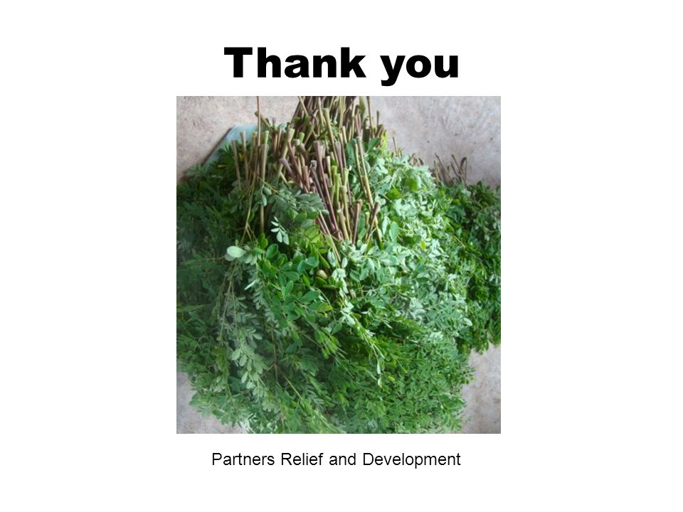 Thank you Partners Relief and Development