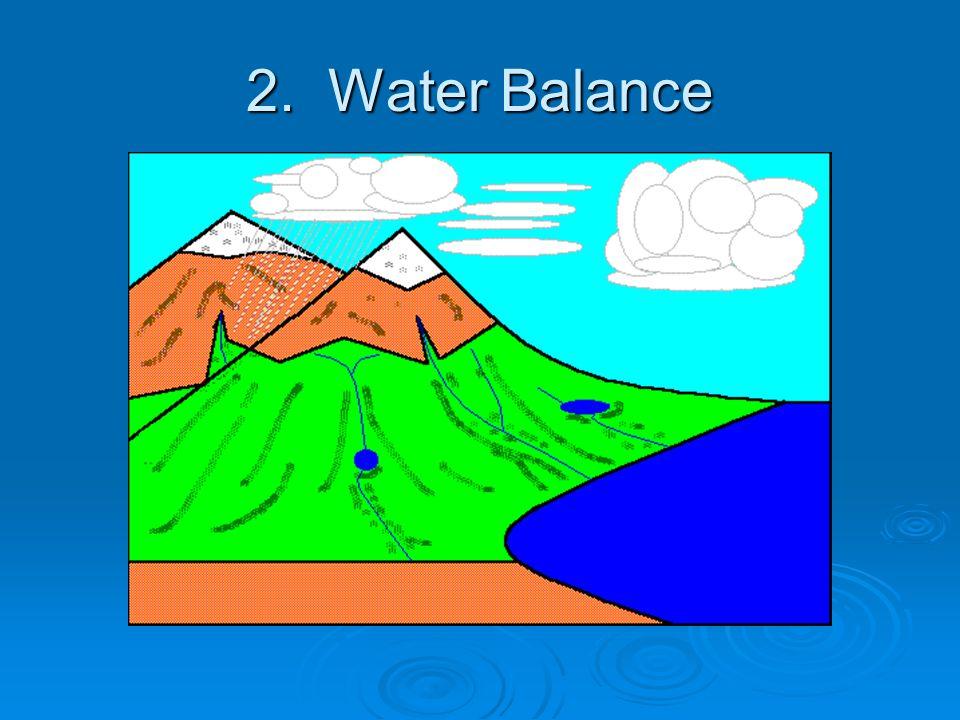 2. Water Balance