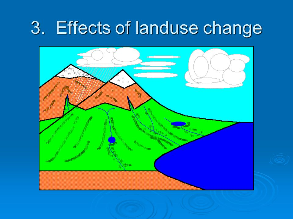 3. Effects of landuse change