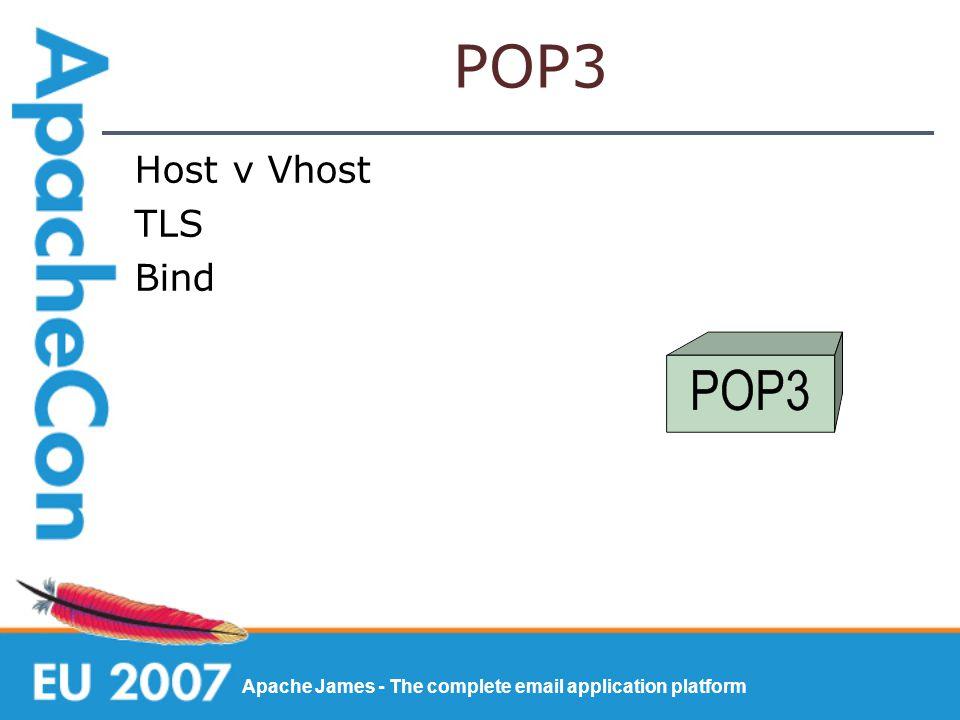 Apache James - The complete email application platform POP3 Host v Vhost TLS Bind