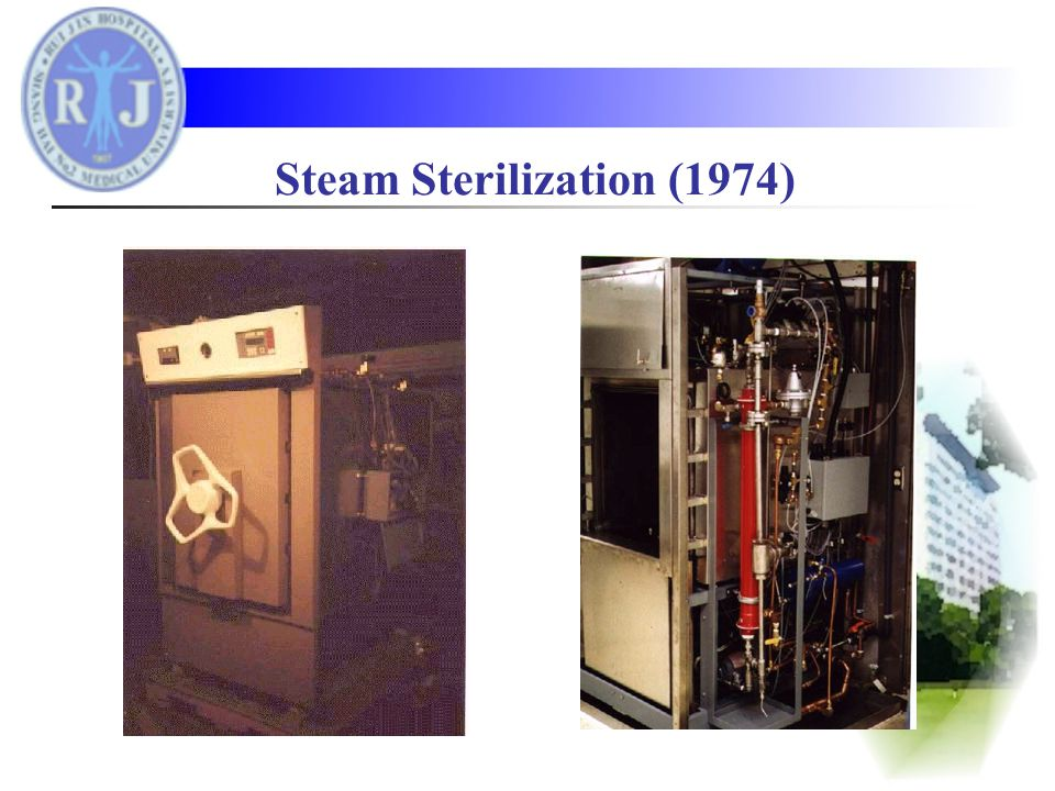Early type of hot air sterilizer Microwave Oven (1947)