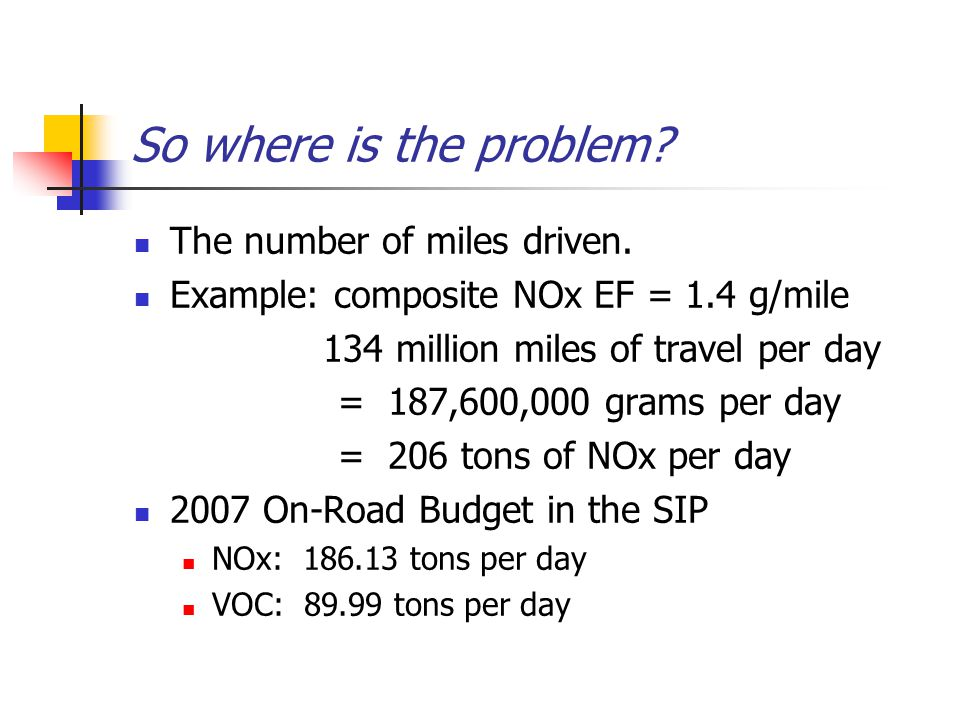 So where is the problem. The number of miles driven.