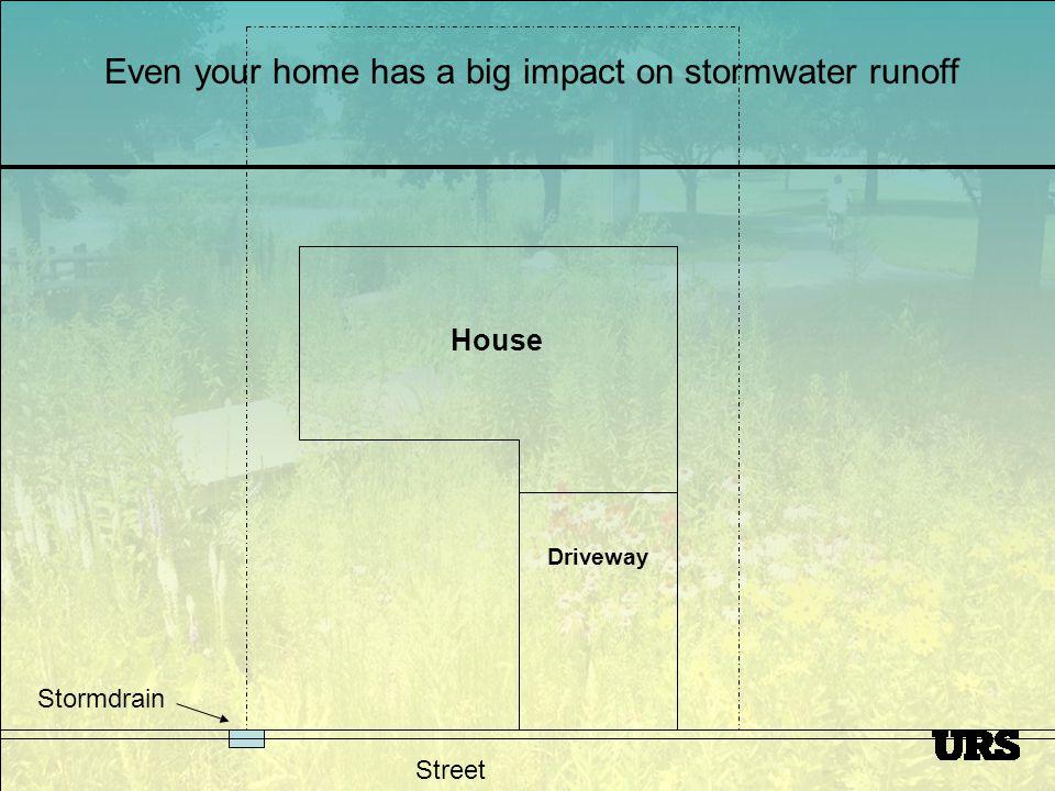 Street Stormdrain 1,500 s.f.house (& patio) x 1 rain = 925 gallons of runoff 1,000 s.f.