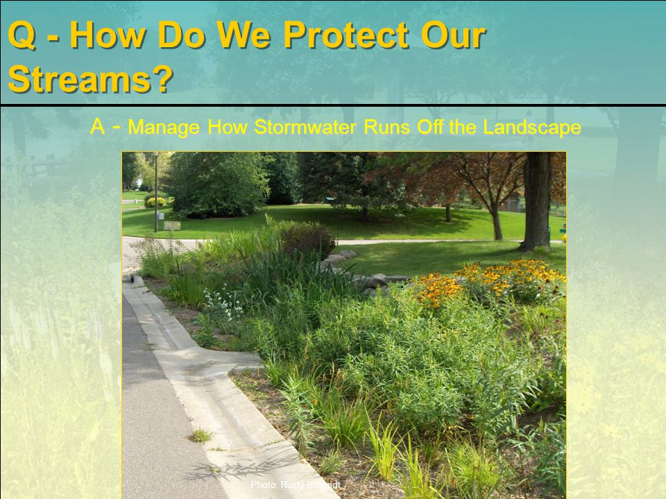 Distributed Stormwater Features Regional Traditional Techniques Distributing Stormwater Controls Close to Runoff Sources