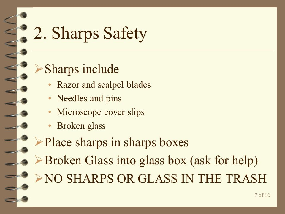 8 of 10 3.Safety Equipment  Do not hesitate to use safety equipment.