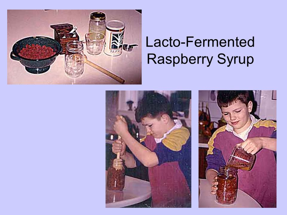 Lacto-Fermented Raspberry Syrup