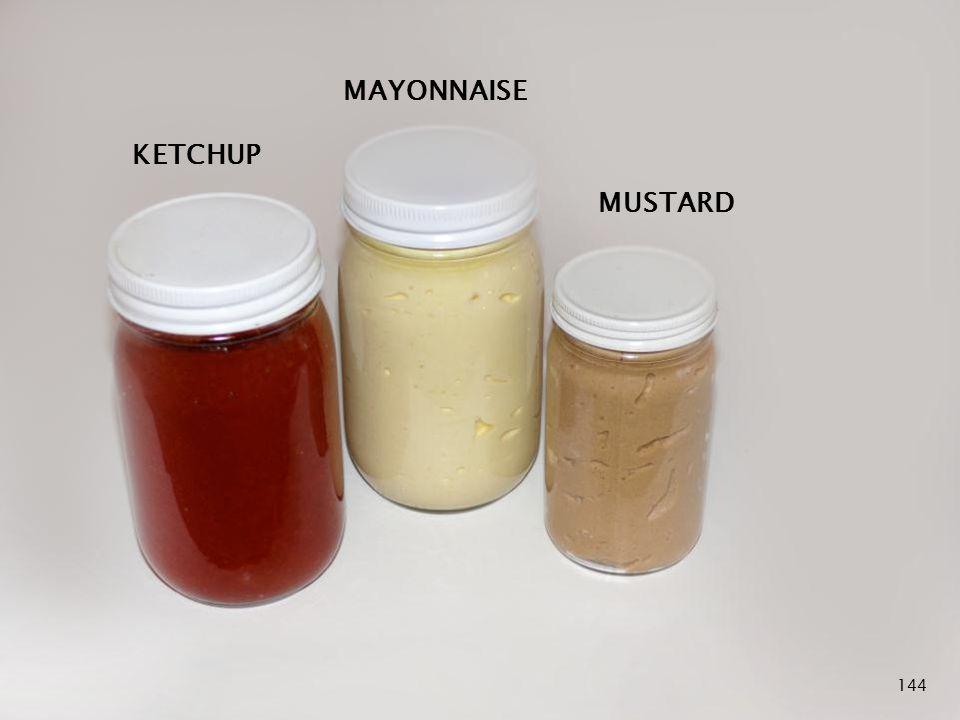 Lacto Fermented Condiments 144 KETCHUP MAYONNAISE MUSTARD