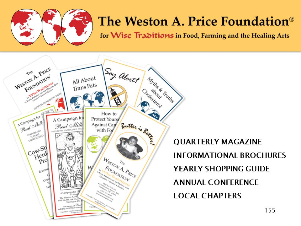 WAPF Brochures QUARTERLY MAGAZINE INFORMATIONAL BROCHURES YEARLY SHOPPING GUIDE ANNUAL CONFERENCE LOCAL CHAPTERS 155