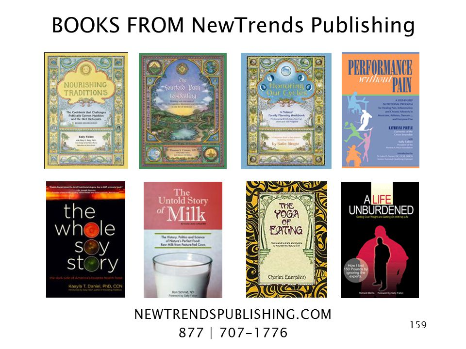 BOOKS FROM NewTrends Publishing NEWTRENDSPUBLISHING.COM 877 | 707-1776 159
