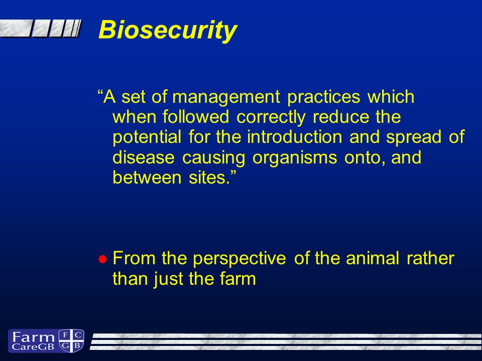 Disease Control Methods Vaccination Medication Biosecurity