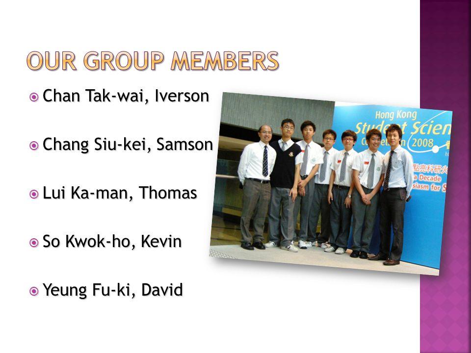  Chan Tak-wai, Iverson  Chang Siu-kei, Samson  Lui Ka-man, Thomas  So Kwok-ho, Kevin  Yeung Fu-ki, David