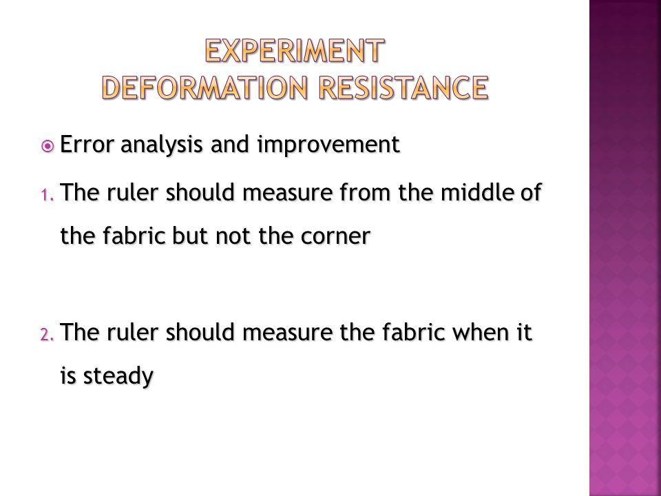  Error analysis and improvement 1.