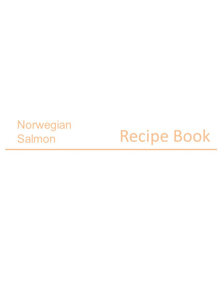 Norwegian Salmon Recipe Book