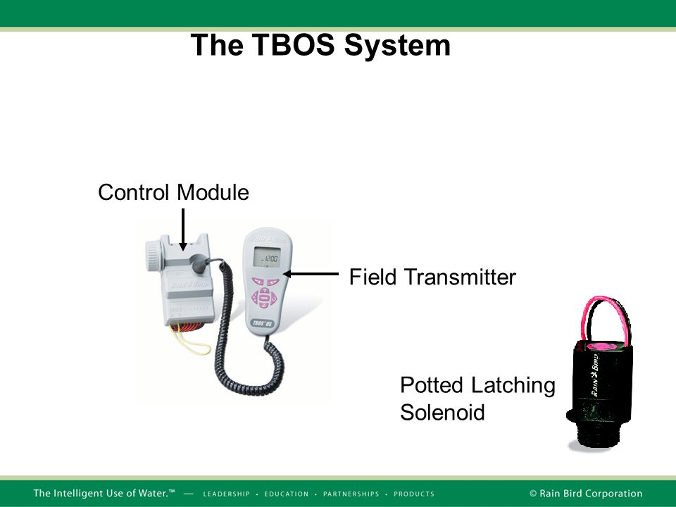 The TBOS System Control Module Field Transmitter Potted Latching Solenoid