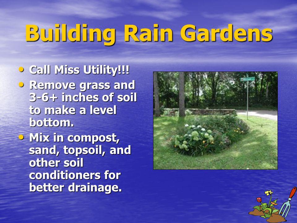 Building Rain Gardens Building Rain Gardens Call Miss Utility!!.