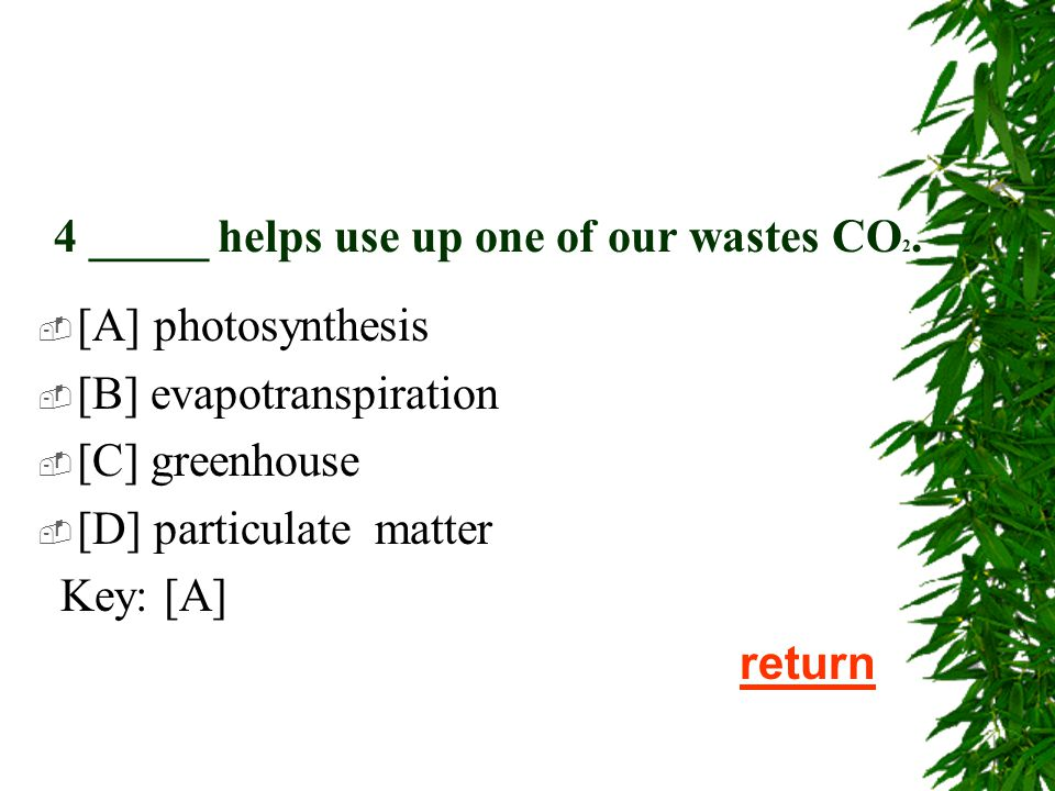 3.Trees can soak up countless pollutants except ______.