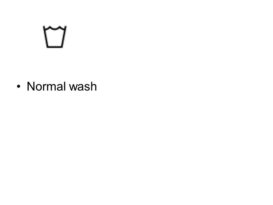 Normal wash