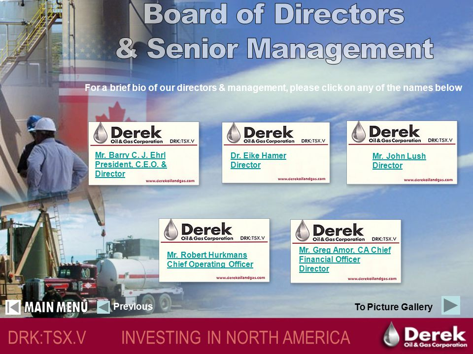 DRK:TSX.V INVESTING IN NORTH AMERICA Why Derek?  No exploration risk in Newcastle Sandstone  Expandable Reserves & Production on Per Share Basis  S