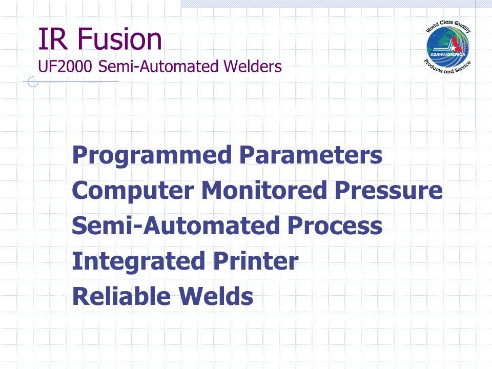 IR Fusion SP Automated Welders SP-110 1/2 - 4 SP-250 2 1/2 - 10