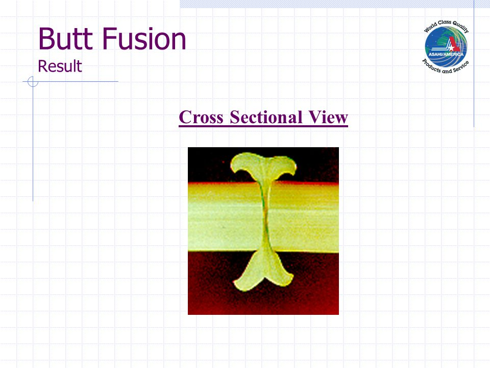 Butt Fusion Result Cross Sectional View